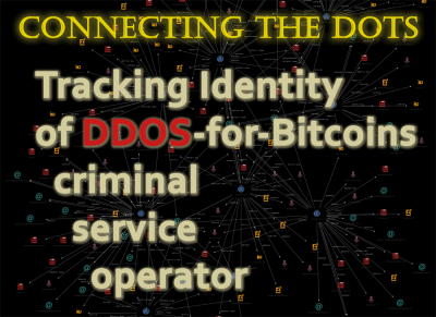 Tracking Identity of DDOS-for-Bitcoins criminal service operator with Splunk, Maltego and Domaintools