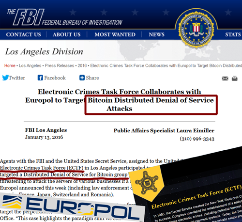 Secret Service FBI Europol target ddos for bitcoins